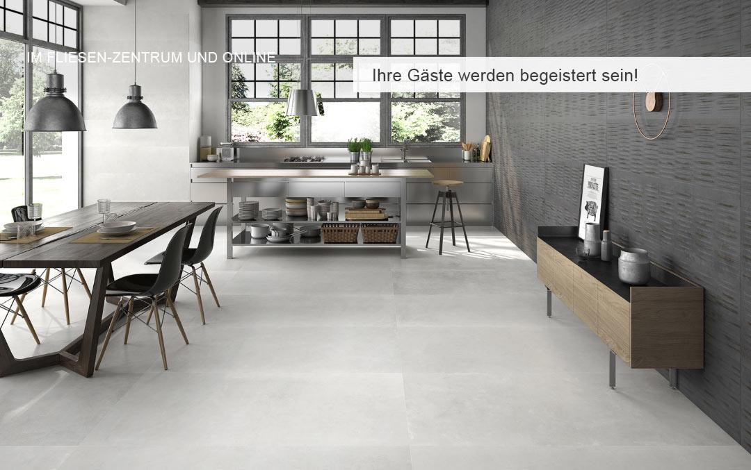 Feinsteinzeug Bodenfliesen | Designideen fürs Wohnzimmer