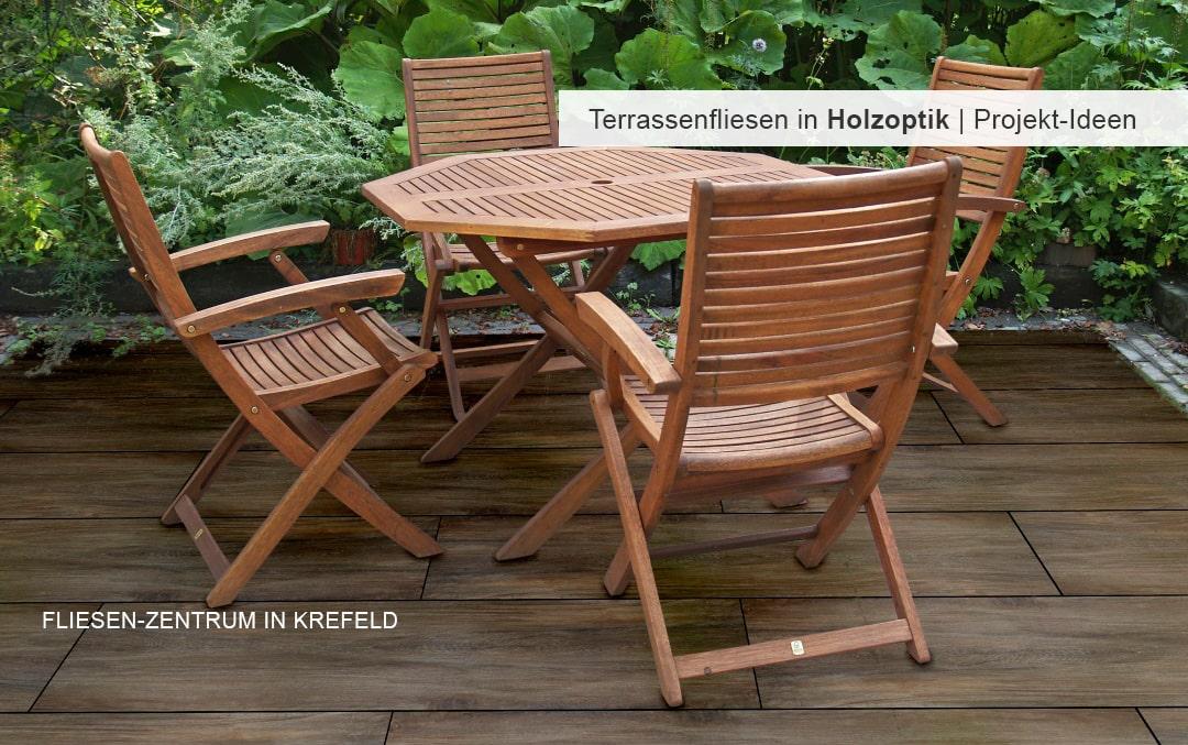 Terrassenfliesen in Holzoptik