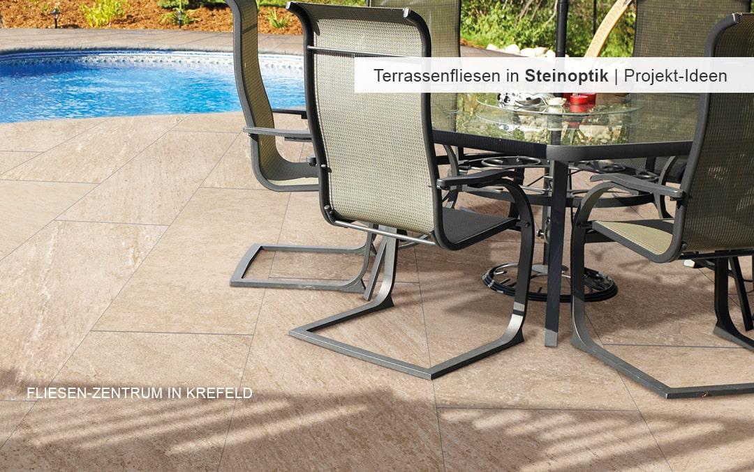 Terrassenfliesen in Steinoptik