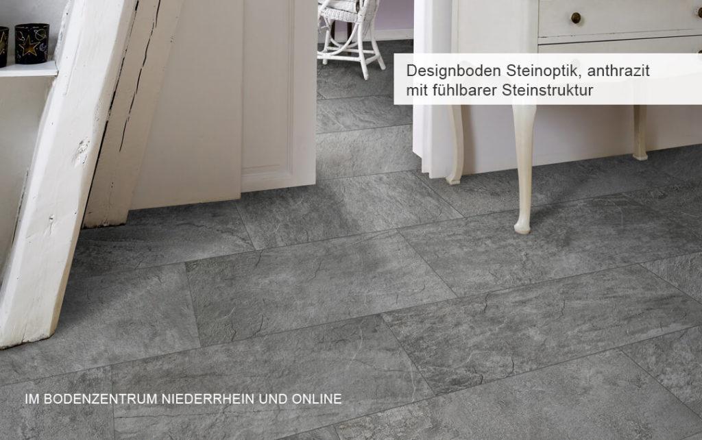 Designböden Steinoptik anthrazit | Bodenzentrum Niederrhein
